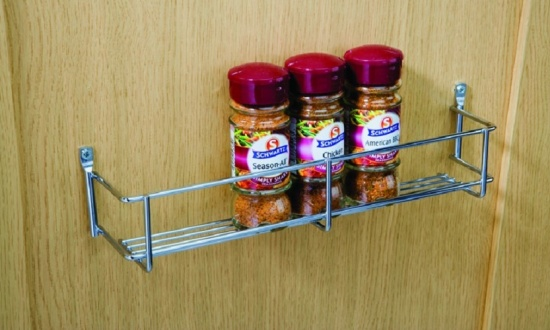 Spice & Packet Rack, One Tier Heavier Gauge Chrome